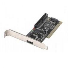 PLACA PCI PARA ADICIONAR DISCOS SATA ( 1 INTERNA 1 EXTERNA + IDE)