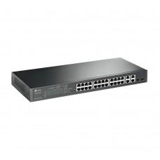 Switch TP-Link c/Gestão 24x100mbits,4xgigabit,2SFP PoE