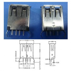 SPARE PARTS USB JACK 4P F 180º B